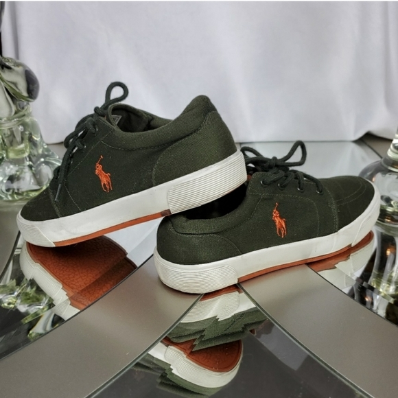 contea Aspettatelo Quercia  Polo by Ralph Lauren Shoes | Polo Ralph Lauren Olive Green Sneakers 55  Youth | Poshmark